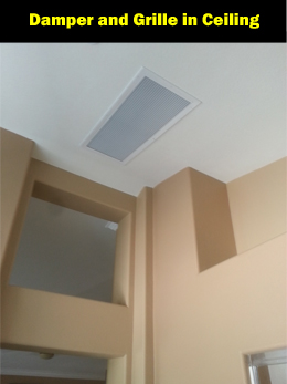 The QuietCool ceiling grille looks great in every home.