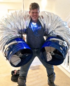 I'm Kevin Page the Fan Installer, and I'm ready to put in your fan!
