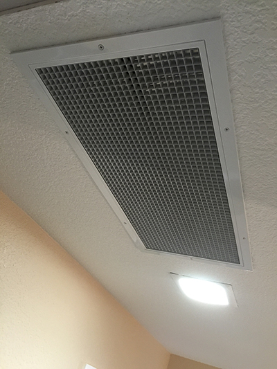 The QuietCool Stealth and Trident fans include a removable ceiling grille.